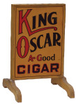 King Oscar Cigar Stand-up Sign