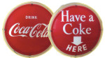 Lighted Coca-Cola Round Sign