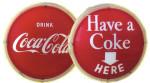 Lighted Coca-Cola Round Sign