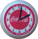 Red and White Coca-Cola Clock