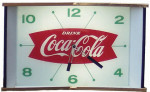 Lighted Coca-Cola Clock