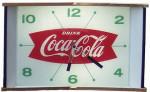 Lighted Coca-Cola Clock