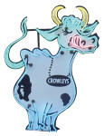 Crowley's Cow Neon Sign