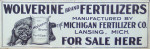 Wolverine Brand Fertilizers Sign