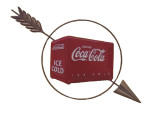 Coca-Cola Arrow Cooler Sign