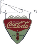 Triangle-Shaped Coca-Cola Sign