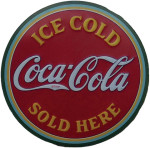 Ice Cold Coca Cola Served Here Sign