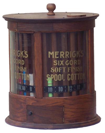Merricks Cotton Thread Store Display Antique Advertising Value