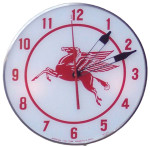 Mobiloil Pegasus Lighted Clock