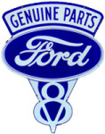Ford V8 Die-Cut Sign