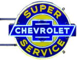 Neon Chevrolet Super Service Sign