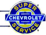 Neon Chevrolet Super Service Sign