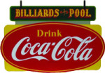 Coca-Cola Billiards and Pool Sign