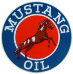 Mustang Oil Round Sign