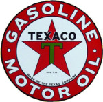 Texaco Green T Sign