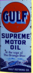 Gulf Supreme Oil Sign