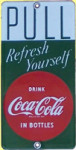 Coca-Cola Door Pull Sign