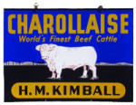 Kimball's Charollaise Cattle Sign
