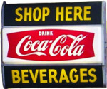 Coca-Cola Beverages Sign