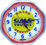 GMC Trucks Lighted Clock