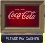 Coca-Cola Please Pay Cashier Sign