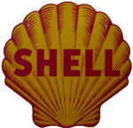 Die-Cut Shell Logo Sign