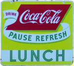 Coca-Cola Lunch Sign