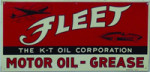 Fleet Motor Oil Sign