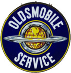 Oldsmobile Service Globe Sign