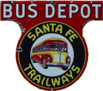 Santa Fe Trailways Bus Depot Sign