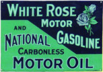 White Rose Motor Gasoline Sign