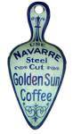 Navarre Golden Sun Coffee Tin Advertising Scoop