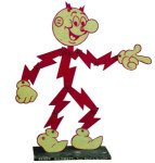 Metal Reddy Kilowatt Figurine