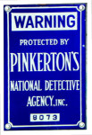 Pinkerton's National Detective Agency Sign