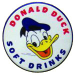 Donald Duck Soft Drinks Sign