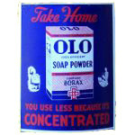 Olo Soap Powder Sign