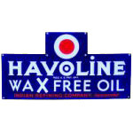 Havoline Wax Free Oil Sign