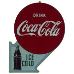 Coca-Cola Arrow Sign