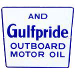 Gulfpride Motor Oil Sign