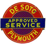 De Soto Plymouth Service Sign