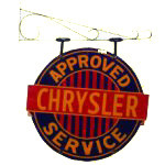Chrysler Approved Service Sign
