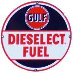 Gulf Dieselect Sign