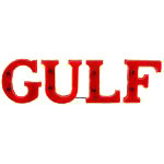 Neon Gulf Letters Sign