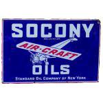Socony Air-Craft Oils Sign