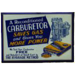 Reconditioned Carburetor Sign