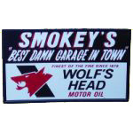 Wolf's Head Oil Garage Sign