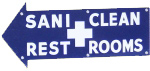 Sani Clean Rest Rooms Sign