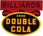 Double Cola Billiards Sign