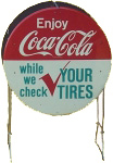 Coca-Cola Tire Check Sign