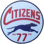 Citizens 77 Gas Curved Sign
